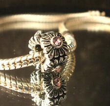 Bead Element Column Medium Rare Kristall Farbe Antiksilber Silber Armband 0378