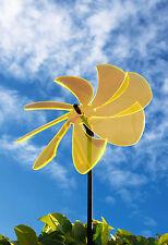 Sonnenfänger Windrad grün/ sonnengelb/ rot 25 cm elegante Flügel m. 100 cm Stab