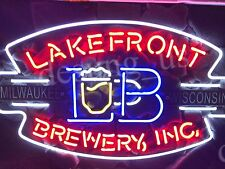 "New Lakefront Brewery Inc Milwaukee Wisconsin Beer Neon Sign 24""x20"""