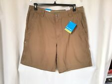 "Columbia Mens Ultimate Rock Creek Omni-Shade Cargo Shorts Work 36x9"" Dark Khaki"