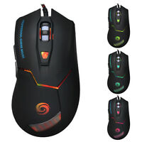 3200 DPI 6 Buttons LED Optical USB 2.0 Gaming Mouse Programmable Mice for PC