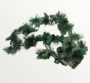Cocoboo 6.7 Feet Artificial Pine Garland Pinecones Metal Wired Snow Christmas