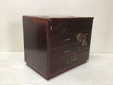 Y2405 TANSU Chest of Drawers Folding Fan Lacquer work Japanese antique Japan