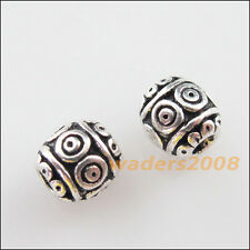 18 New Charms Tibetan Silver Tone Flower Round Ball Spacer Beads 6mm
