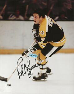 Phil Esposito Autographed 8x10 Boston Bruins Photo UDA Upper Deck HOF