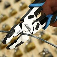 9 Inch Electrician Pliers Wire Cable Cutter Steel Stripper Shear