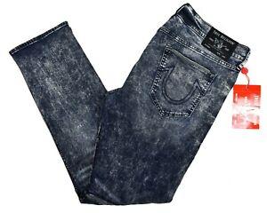 True Religion Men's Geno Relaxed Slim Moto Brand Jeans - 102987 Size 40, 38