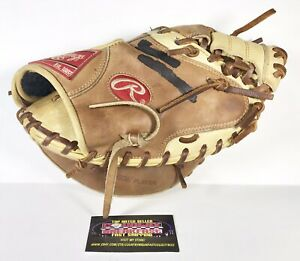 "Rawlings GGCM33BRL 33"" Baseball Catchers Mitt Glove RHT Genuine Leather - Nice!"