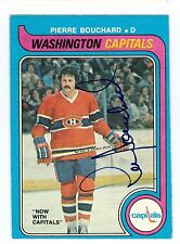 Pierre Bouchard Signed 1979-80 O-Pee-Chee Card 289 Capitals Dated In Person Auto