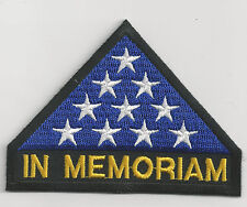 IN MEMORIAM FOLDED FLAG - IRON ON PATCH