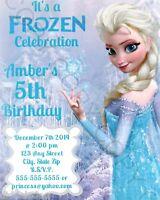 Frozen Birthday Party Invitations Elsa w/ Envelopes 8pk Personalize Changes OK