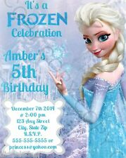 Frozen Birthday Party Invitations Elsa w/ Envelopes 8pk Personalize Changes Ok
