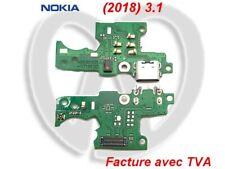 Per Nokia 3.1 (2018) Flat Flex Platino Connettore da Carica Porto USB Micro OEM