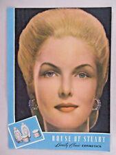 House of Stuart Beauty Clinic Cosmetics PRINT AD - 1945