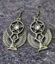 For Cleopatra or a Queen-Egyptian / Victorian Style Winged ISIS charm EARRINGS