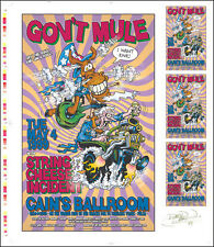 GOV'T MULE & STRING CHEESE Original Cain's Ballroom Uncut Concert Poster Signed