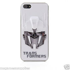 White / Silver 3D Transformers Optimus Prime iPhone SE 5S 5 3D Plastic Full Case