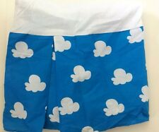 Disney Winnie the Pooh Twin Bed Skirt Blue White Clouds Cotton/Polyester Md Usa