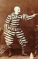 Antique Circus Creepy Clown Photo 143b Odd Strange & Bizarre