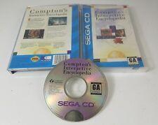 Compton's Interactive Encyclopedia SEGA CD Game - Complete CIB - Tested Works !