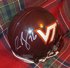 DUANE BROWN Texans Autographed Virginia Tech Mini Helmet including BDS COA #2482