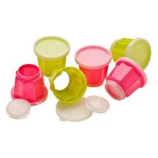 Premier Housewares Jelly Moulds Lids Pink & Green Set of 6 Food Prepware