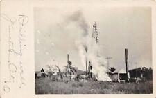 D19/ Junction City Ohio Postcard RPPC c1910 Oil Well Derrick Occupational Drill3