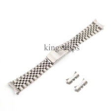20mm Silver Stainless Steel REPLACEMENT Wrist Watch Band For DATEJUST JUBILEE