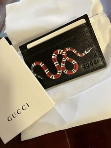 Gucci Card Holder Kingsnake Wallet New