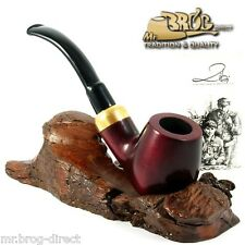"Mr.Brog original smoking pipe nr 22 RED smooth "" BENT STECKER "" HAND MADE"