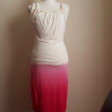 Women's Venus ombre Pink & Ivory Stretch Medi Dress Size S