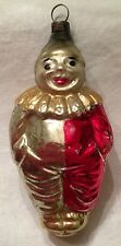Antique German Glass Ornament - Full Bodied Clown