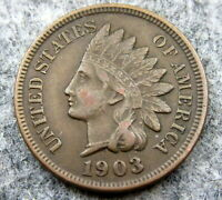UNITED STATES 1903 ONE CENT, INDIAN HEAD, BETTER GRADE