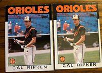 1986 Topps #340 Cal Ripken - Orioles HOF