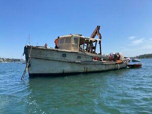 Trawler 45ft Gardner Diesel Fishing Mooring Barge (Sydney Harbour) No Reserve!