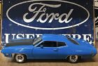 1:18 Die Cast Ertl 1971 FORD TORINO COBRA 429CJ GRABBER BLUE 1 OF 4998