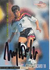 Andreas Möller DFB Panini Card EM 1996 TOP Orig. Sign. +A27625