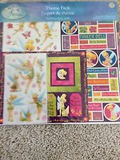 New Disney Tinkerbell 12x12 scrapbook theme pack paper stickers