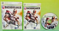 Backbreaker Football  - Microsoft Xbox 360  Game - Tested Works Complete