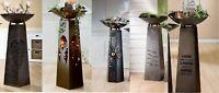 Gartendeko Garten XXL Metall Schalenständer Ständer Stele Blumenständer Säule