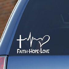 FAITH - HOPE - LOVE vinyl decal sticker, God Blessing Inspiration, Custom Colors