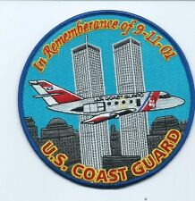 USCG United States Coast Guard Patch In rememberance of 9-11-01 plane right 5 in