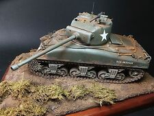 "SHERMAN FIREFLY ""Bastogne 1944"" Pro Built 1/35 Tank Model Kit Display M4 Us Army"