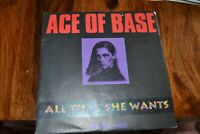 "ACE OF BASS     ALL THAT SHE WANTS      7"" VINYL    LONDON RECORDS   861 270-7"