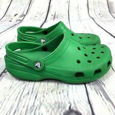 Crocs Classic Clog size 8 Men 10 Women Green Solid Heel Strap Shoes Slip On