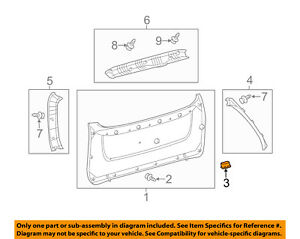 TOYOTA OEM Liftgate Tailgate Hatch-Pull Handle 748110E010C0