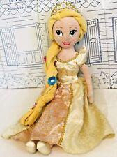 "Disney Store Rapunzel Plush Tangled Princess Doll Toy Wedding Ever After 20"""