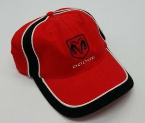 Dodge Ram Logo Motor Company Red Black White Adjustable Hat Cap NWOT Unworn B