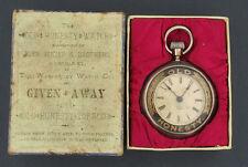 1880's Waterbury Series C Old Honesty Tobacco Advertising Watch in Original Box