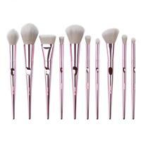 Pro Makeup Brush Metal Handle Eyeshadow Blush Lip Powder Eye Brush Set Cosmetic